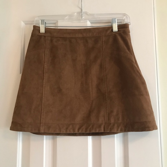 Abercrombie & Fitch Dresses & Skirts - Abercrombie brown suede a-line skirt